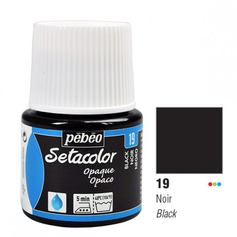 Tinta Tecido Setacolor Pébéo 45ml Black Lake 19