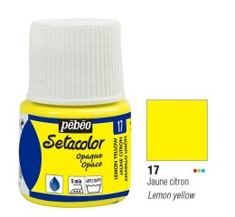 Tinta Tecido Setacolor Pébéo 45ml Lemon Yellow 17