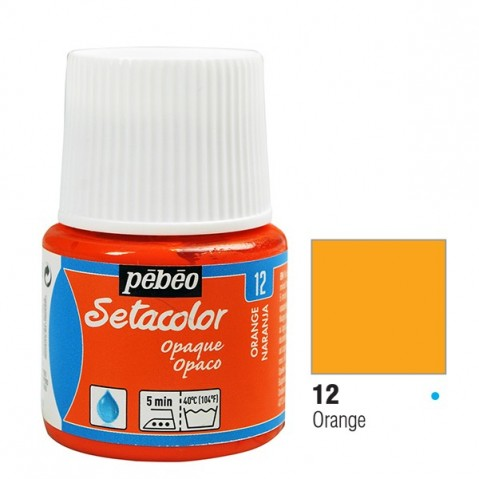 Tinta Tecido Setacolor Pébéo 45ml Orange 12