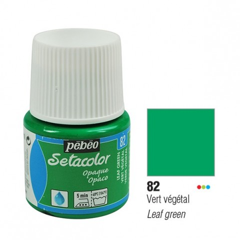 Tinta Tecido Setacolor Pébéo 45ml Leaf Green 82