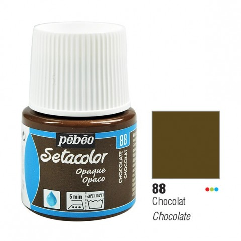 Tinta Tecido Setacolor Pébéo 45ml Pébeó Chocolate 88