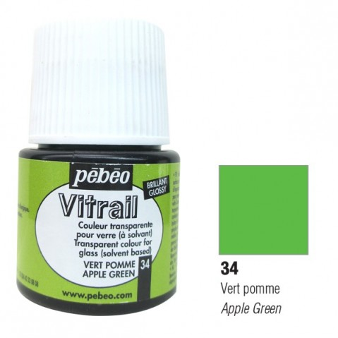 Verniz Vitral Pébeo Apple Green 34
