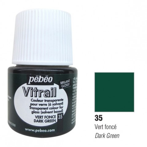 Verniz Vitral Pébeo Dark Green 35