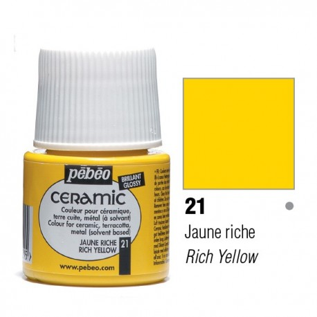 Ceramic Pébéo Rich Yellow 21