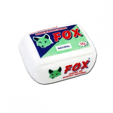 Massa Biscuit Fox 1Kg Natural