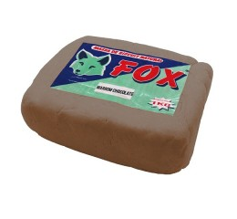 Massa Biscuit Fox 1Kg Marron Chocolate