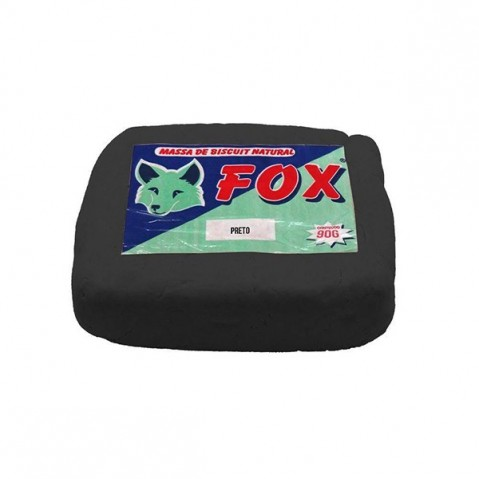 Massa Biscuit Fox 1Kg Preto