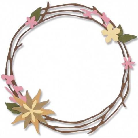 Cortante Sizzix Thinlits Pretty Wreath 662575