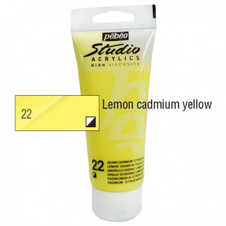 Acrílico Studio Pébéo Lemon Cadmium 100ml nº22