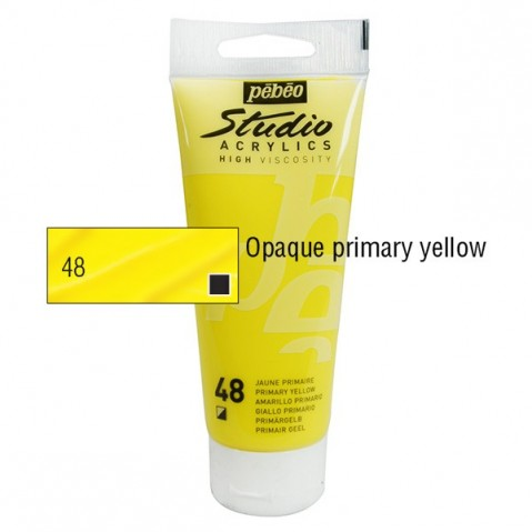 Acrílico Studio Pébéo Primary Yellow 100ml nº 48