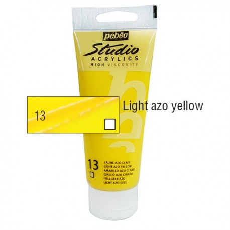 Acrílico Studio Pébéo Light Azoi Yellow 100ml nº13