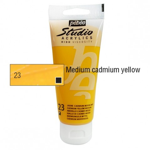 Acrílico Studio Pébéo Medium Cadmium 100ml nº23