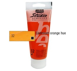 Acrílico Studio Pébéo Cadmium Orange 100ml nº32