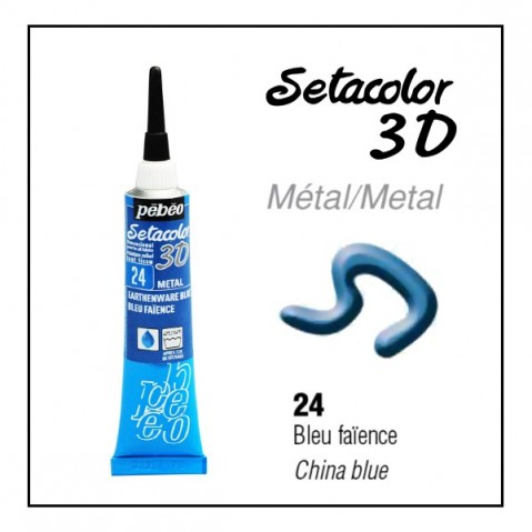 Tinta Contorno Pébéo Metal 24 China blue