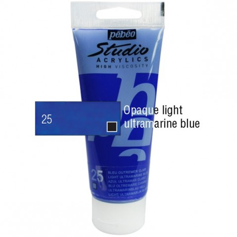 Acrílico Studio Pébéo Light Ultramarine 100ml nº25