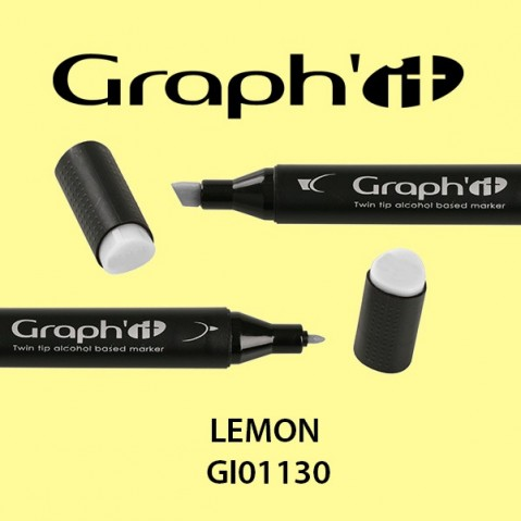 Marcador Graph'it 2 Pontas LEMON GI01130