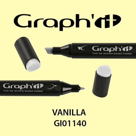 Marcador Graph'it 2 Pontas VANILLA GI01140