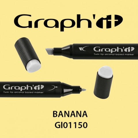 Marcador Graph'it 2 Pontas BANANA GI01150