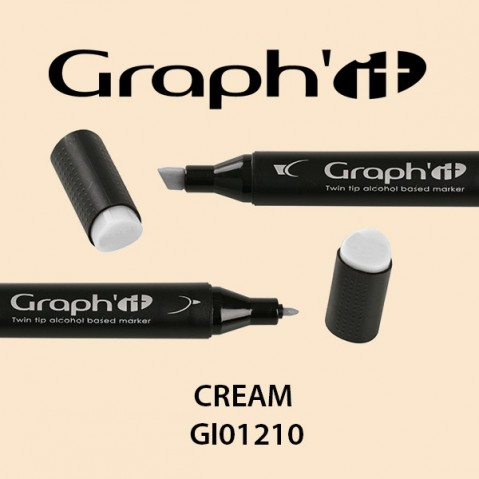Marcador Graph'it 2 Pontas CREAM GI01210