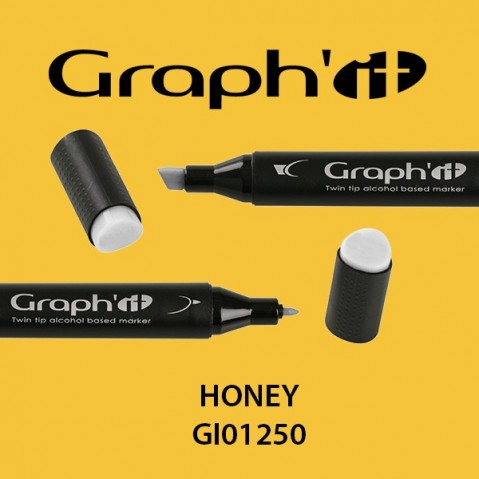 Marcador Graph'it 2 Pontas HONEY GI01250