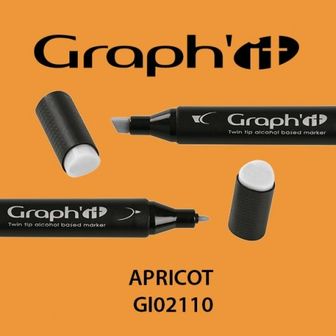 Marcador Graph'it 2 Pontas APRICOT GI02110