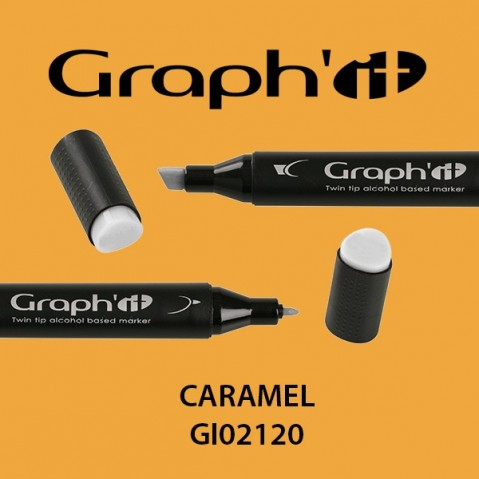 Marcador Graph'it 2 Pontas CARAMEL GI02120
