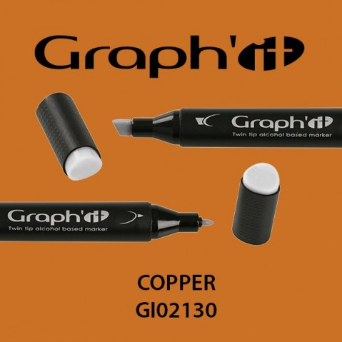 Marcador Graph'it 2 Pontas COPPER GI02130