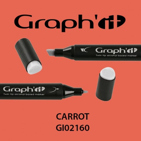 Marcador Graph'it 2 Pontas CARROT GI02160