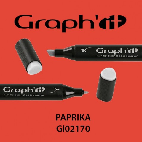 Marcador Graph'it 2 Pontas PAPRIKA GI02170