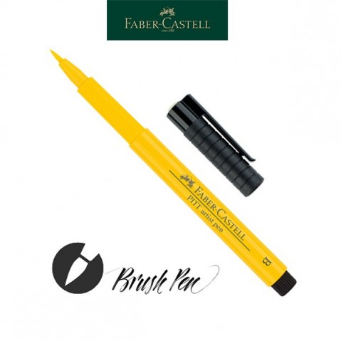 Pitt Artist Pen Pincel Tinta da China 107 Cadmium Yellow