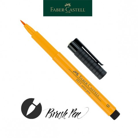 Pitt Artist Pen Pincel Tinta da China 109 Dark Chrome Yelow