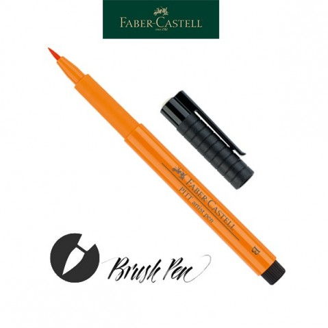Pitt Artist Pen Pincel Tinta da China 113 Orange Glaze