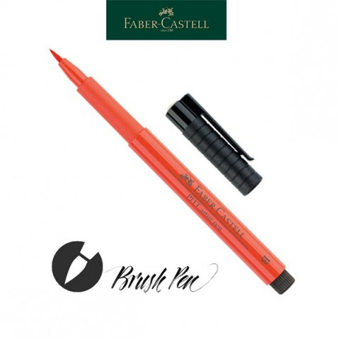 Pitt Artist Pen Pincel Tinta da China 118 Scarlet Red