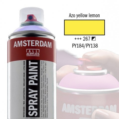 Spray Acrílico Amsterdam AZO YELLOW LEMON 267