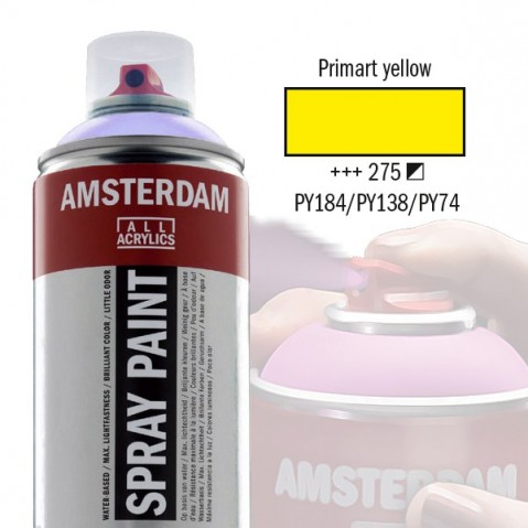 Spray Acrílico Amsterdam PRIMARY YELLOW 275