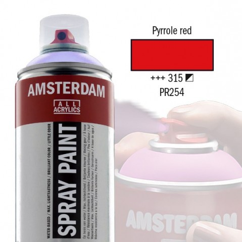 Spray Acrílico Amsterdam PYRROLE RED 315