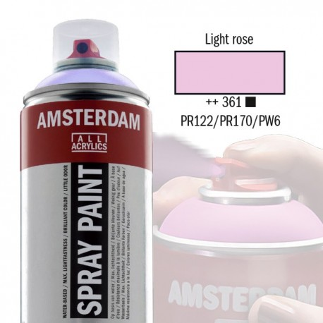 Spray Acrílico Amsterdam LIGHT ROSE 361