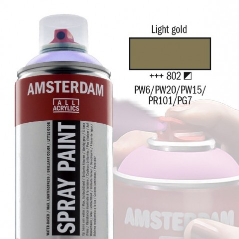 Spray Acrílico Amsterdam LIGHT GOLD 802