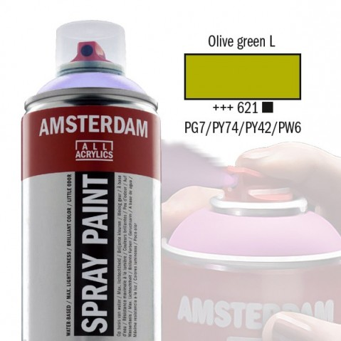Spray Acrílico Amsterdam OLIVE GREEN LIGHT 621