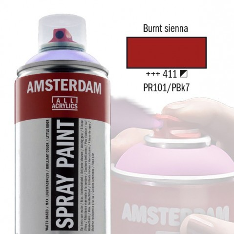 Spray Acrílico Amsterdam BURNT SIENNA 411