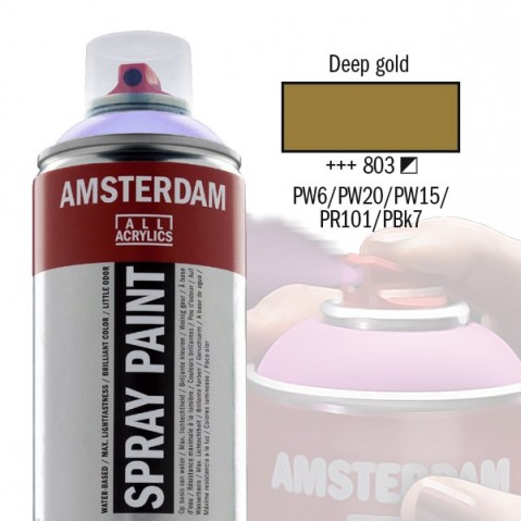 Spray Acrílico Amsterdam DEEP GOLD 803
