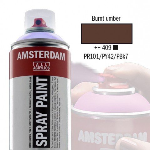 Spray Acrílico Amsterdam BURNT UMBER 409