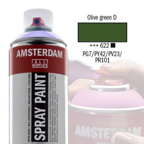 Spray Acrílico Amsterdam WARM GREY 622