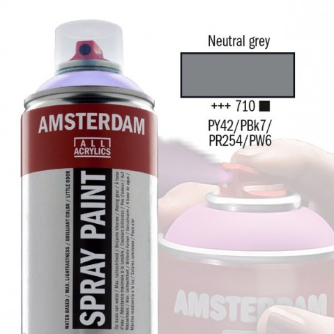 Spray Acrílico Amsterdam NEUTRAL GREY 710