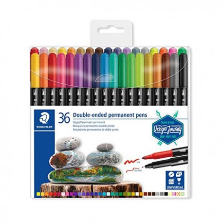 Double-ended permanent pens
