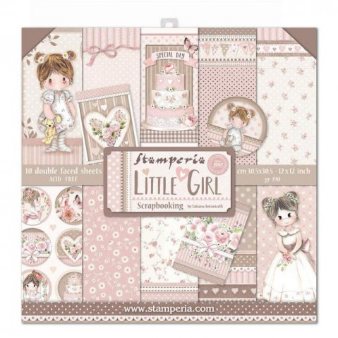 Bloco Papel Scrapbooking Little Girl SBBL67 STAMPERIA 30X30CM