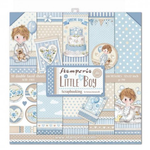 Bloco Papel Scrapbooking Little Boy SBBL68 STAMPERIA 30X30CM