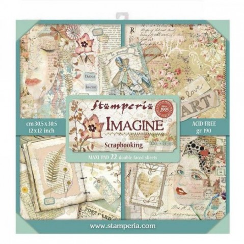Kit de Scrapbooking Imagine Maxi SBBXL04 STAMPERIA 30X30CM