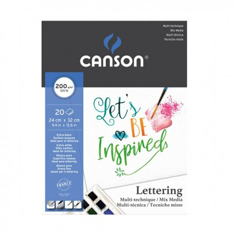 Bloco Para Lettering Canson Mix Media A4