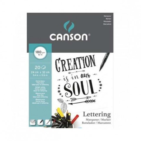 Bloco Para Lettering Canson Mix Media A4 180g